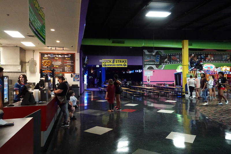 The event contained Bowling, laser tag, and a movie.