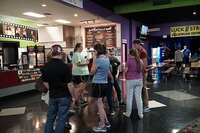 A group of Gardner-Webb students socializes before the movie,