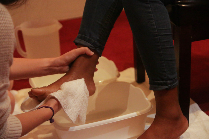 In order to portray an example of servanthood the CMU Council washed the feet of their fellow council members and then opened it up for all students to have their feet washed to show that before you serve, you must be willing to be served.