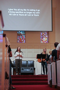GWU Alumnus, Cassidy Cummings and Morgan Ivan along with North Greenville Sophomore, Kenna Babson, led worship on Friday night and Saturday morning at the CMU Fall Retreat in Dover Chapel.