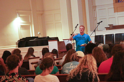 "GWU Alumnus Matt Walton led the students and faculty at the CMU Retreat on Friday and Saturday in 2 messages on Servanthood. Friday night's topic was ""Servant Leadership"" and Saturday mornings session was on ""Imitating Christ's Humility."""