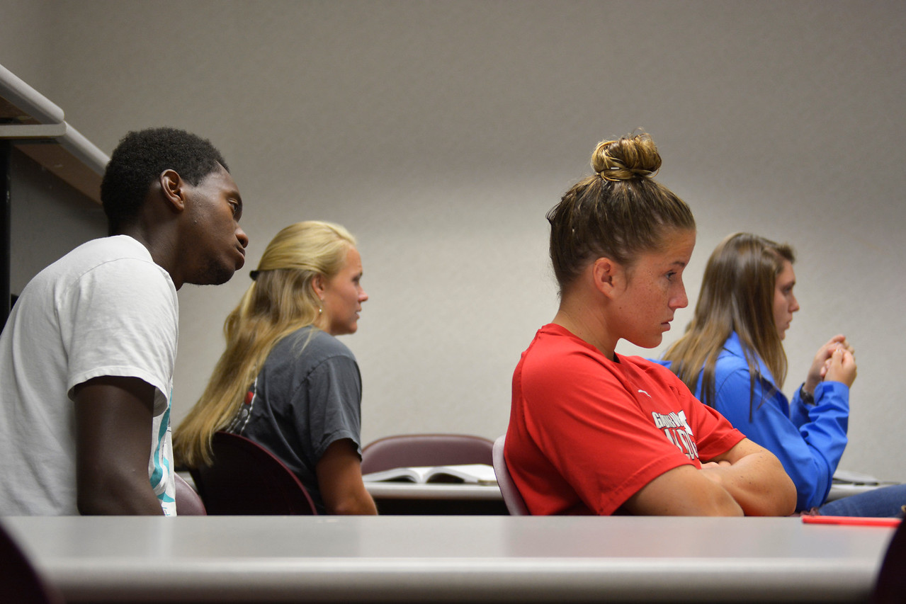 Students were invited to ask questions about controversial topics that are currently going on in sports.