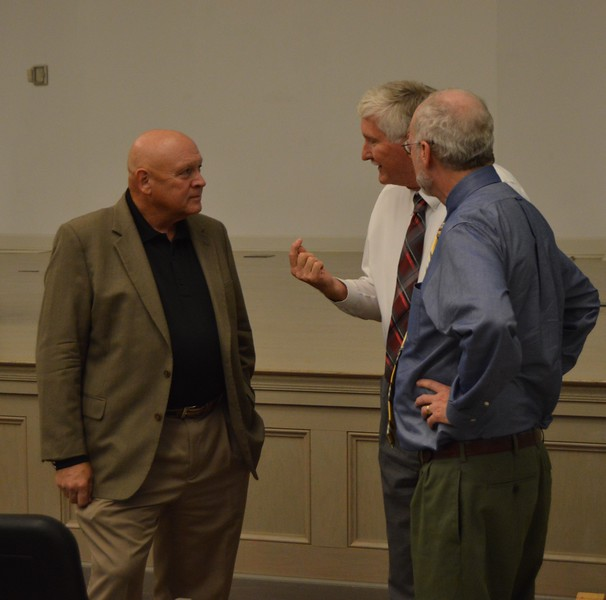 Dr. Kimbell answers some questions after his lecture.  September 20, 2016