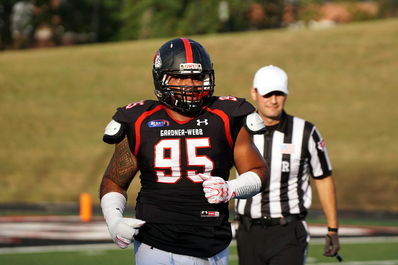 Number 95,  P.J. Fuimaono, after a play.