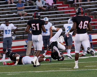 Bulldogs going after a Citadel player.