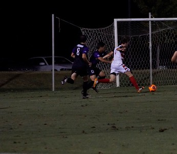 Bulldog player goes to make an attempt to score with Furman catching way, it a score of 2-2. Gardner Webb v. Furman 9/13/16