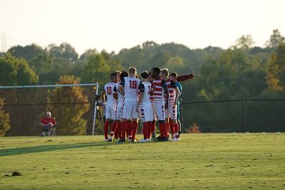Gardner Webb Men's Soccer gets ready to play their game against Furman University.  Gardner Webb v. Furman 9/13/16