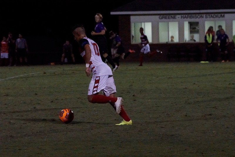 Ali Al-Gashamy, #10, goes to take the ball across the midfield. Gardner Webb v. Furman 9/13/16