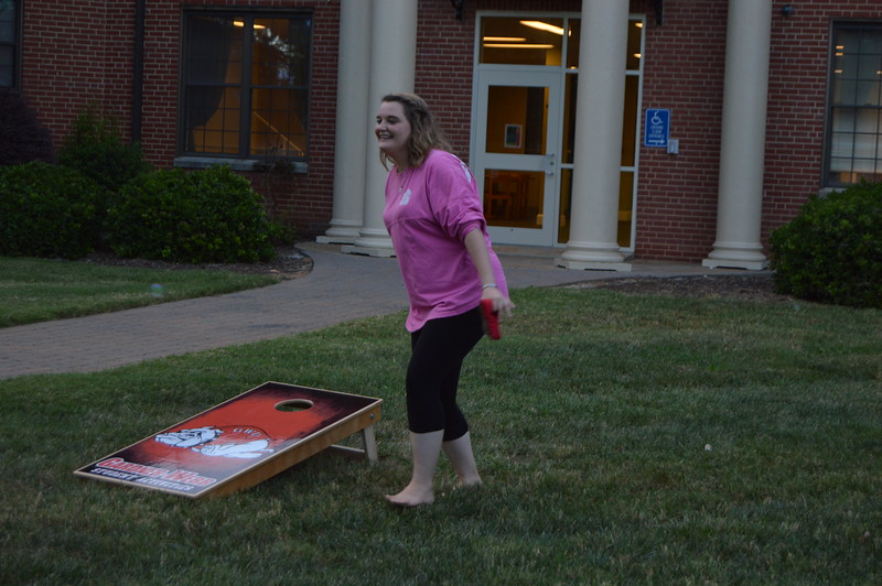 Corn hole.  September 22, 2016 gwu photo by: Hannah Anders