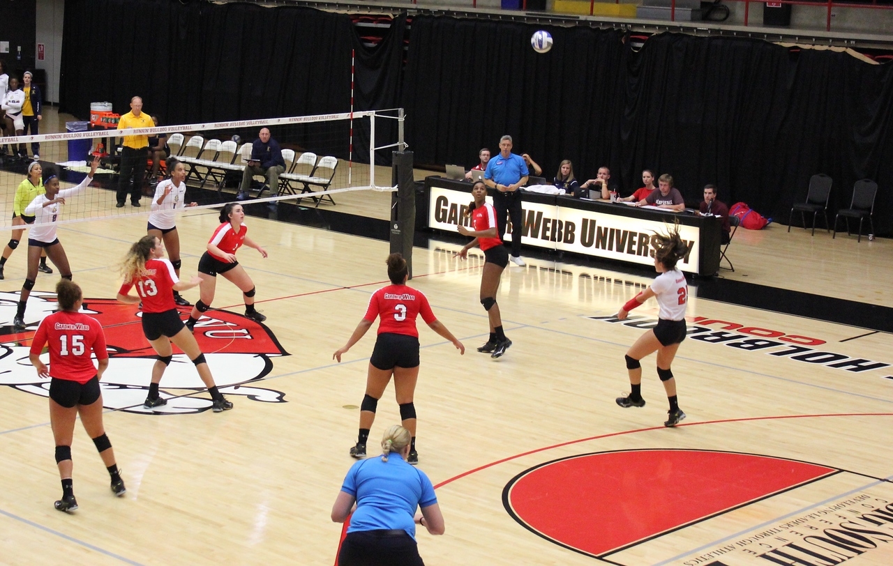 GWU begins to set up for an offensive play