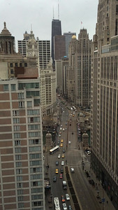 View from my room toward the Michigan Ave bridge.