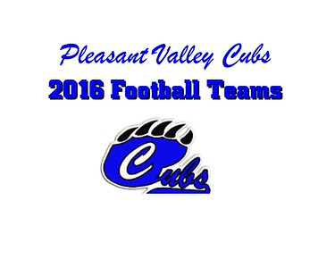 2016 Pleasant Valley Cubs Football