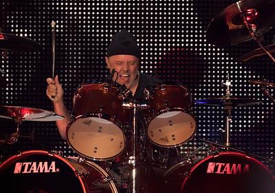 Lars Ulrich, drummer for Metallica is still going strong as Metallica headlined the second concert in US Bank Stadium on August 20, 2016 in Minneapolis, Minn. [ Special to Star Tribune, photo by Matt Blewett, Matte B Photography, matt@mattebphoto.com, Metallica, Avenged Sevenfold, Volbeat