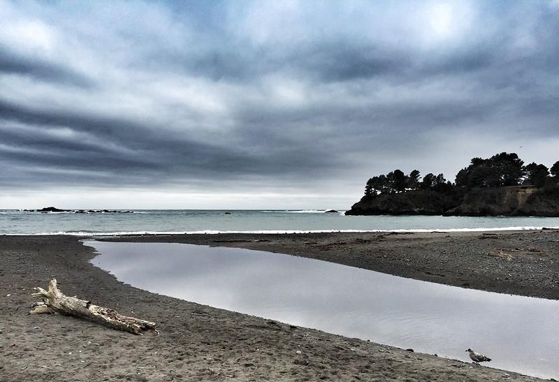 The coast.Pacific