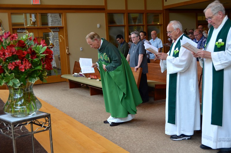Fr. Jim was the main celebrant at Tuesday's liturgy