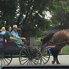 Passing through Tellico Plains.  Amish family on way to town.