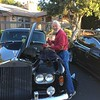 Art checking fluids of his 1965 Rolls-Royce Silver Cloud III in preparation for a day's touring.
