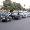 Line up at the Cottage Inn.  1989 Bentley Turbo R, 2010 Bentley Azure T, 2000 Bentley Arnage & 1954 Bentley R-Type.