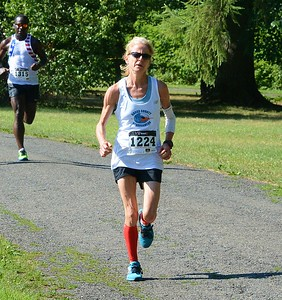 Newtown's Maggie Kanak finished first in the age 50-59 females.