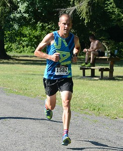 Pipersville's Todd Wiley took fourth place overall in the 10K road race.
