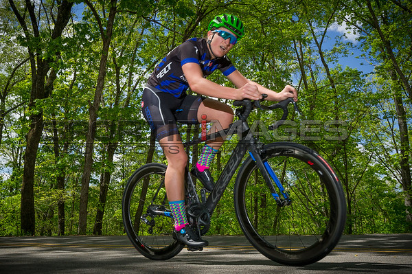 Joe Martin Stage Race - Pro Women - Stage 1.  A rider makes her way along the course.