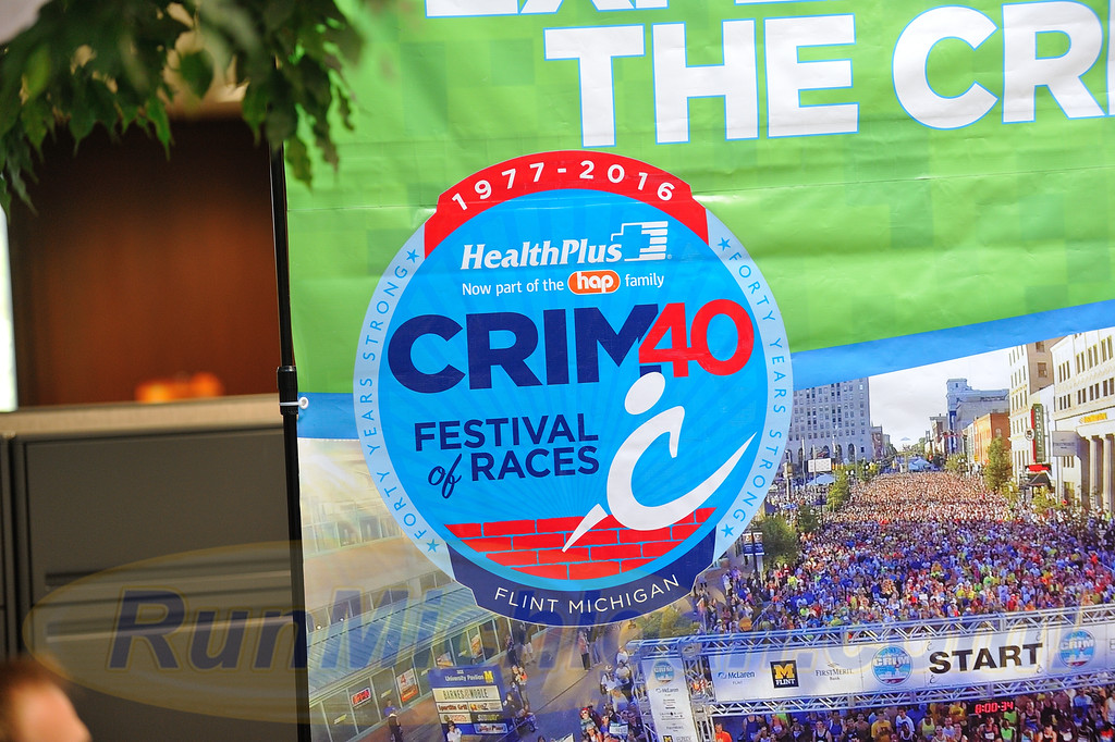 Photos from the 2016 Crim Festival of Races pre-race Press Event, held in Flint Township on August 24, 2016. (Photos: RunMichigan.com)