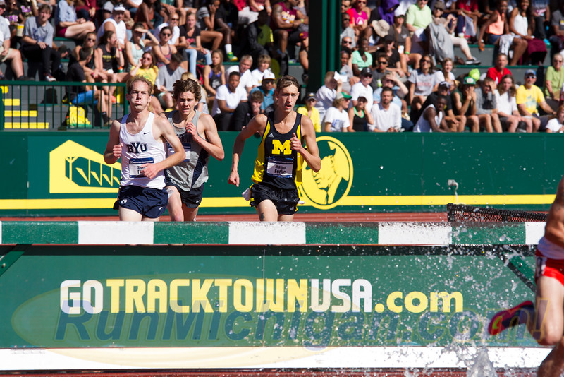 Mason Ferlic of the University of Michigan is shown here at the the 2015 NCAA's. (Photo by Michael Lahner/RunMichigan.com)