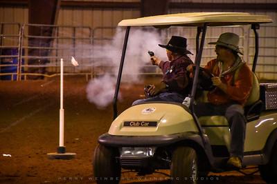 Mounted Golf Cart Shooting