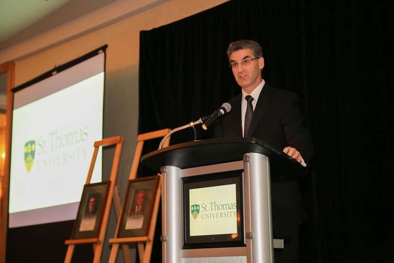 Our emcee Harry Forestell, BA '84 of CBC New Brunswick News