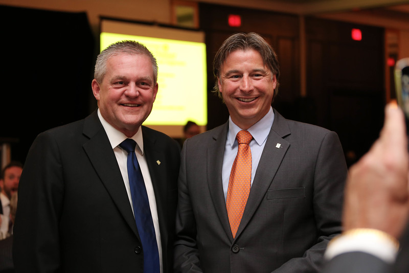 Former premiers of New Brumswick David Alward and Shawn Graham, BEd '93
