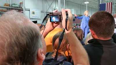 Political Events - Hilary Clinton in Louisville at the UAW facility 2016