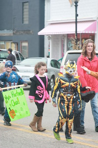 Elizabeth Gray - Morning Sun  Shepherd Elementary Students took to the streets to show off their best Halloween costumes on Monday, Oct. 31, 2016.