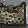 Joan Skillman showing us her scrappy Tumbling Block quilt.  Quilted by Everlasting Stitches.