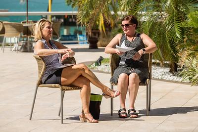 V Kathy Pelkey and V Jeanie Siem