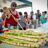 Sam Pan came up from North Carolina to make some sugar cane juice at the Southeast Asian Water Festival in Lowell. SUN/Caley McGuane