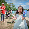 Henna Aing, 4, has fun with bubbles at the Southeast Asian Water Festival with her family, Makara Yeang and Aiden Aing, 2, all from Lowell. SUN/Caley McGuane