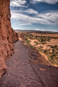 Arches National Park in Moab, Utah (Trail up to Delicate Arch)