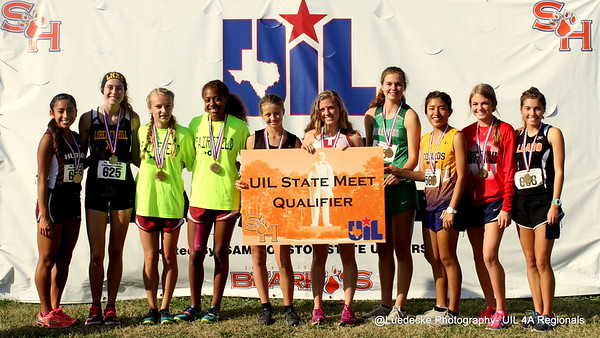 UIL 4A Region 3 Cross Country girls
