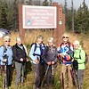 Third day.  We are ready to hike the Upper South Fork Eagle River trail.  Glad a picture was taken.  Not sure I could remember the name.  I can remember our names though: Kelley, Sally, Kari, Norma, Sylvia, Paula.