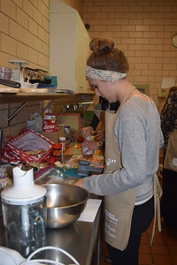 "Susan Field-The Morning Sun Culinary advisors help teens create gourmet dishes during 2016 Teen ""Chopped"" Competition in Mt. Pleasant."