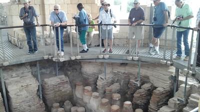 overlooking roman steam bath