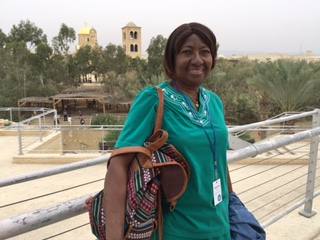 mariama at the jordan baptism site