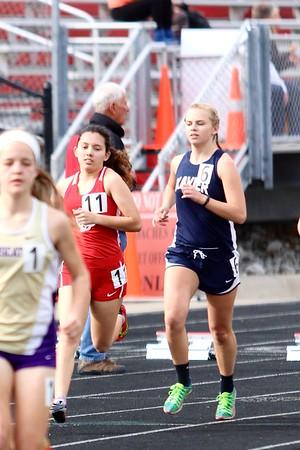 Xavier at Iowa City Sherwood  JV and Varsity Girls Track Invitationall 3/22/16
