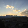 Sunset photo from Larry and Louise's back porch in Salida, CO