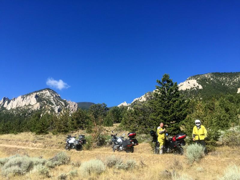 Randy and Joel on the Meeteetse Trail, near Red Lodge, Montana.