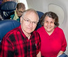 Bob and Jeanette on flight to Vancouver