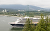 Another cruise ship going under Lions Gate Bridge