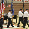 Several members of the community joined the West Central Middle and High School students in remembering veterans on Friday. Members of the high school student council organized the event in honor of Veterans Day and invited those who have served and are serving to join the program. Those who joined the program included members of the Francesville American Legion who presented the flags prior to the speakers.