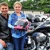 This girl's dad drove her on his Harley