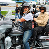 Nice couple riding their Harley